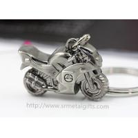 China Exquisite metal motorcycle drop pendant keychain, branding logo motorcycle charm ornament, on sale