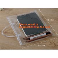 Wholesale Simple clear Plastic PVC A4 file bag with zipper, pvc ziplock file bag, Custom PP A4 File Bag Document Bag Plastic Zippe from china suppliers