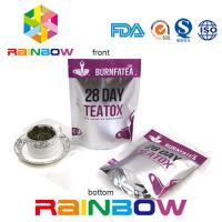 China PET / AL / PE k Tea Bags Packaging , Stand Up Resealable Pouches Custom Size on sale