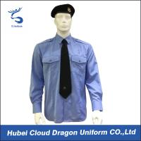 Buy cheap Soft CVC Twill Security Guard Uniform Shirts / Long Sleeve Dress Shirt , OEM / ODM Service from Wholesalers