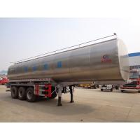 China 40t Fresh Milk Delivery Tanks Trucks And Trailers 3 Axle Stainless Steel Milk Tank Truck on sale