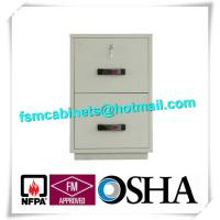 Wholesale Waterproof Fire Resistant Filing Cabinets , Fire Safe File Cabinet 2 Drawer from china suppliers