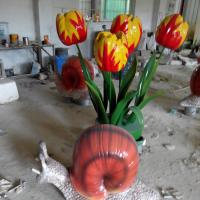 Wholesale 122thcanton fair  customize size fiberglass large lotus flower model as decoration statue in garden /square / shop/ mall from china suppliers