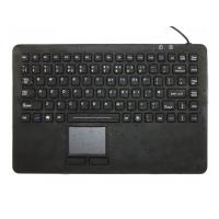 Buy cheap IP68 waterproof silicone medical keyboard with built-in trackpad mouse and USB cover from Wholesalers