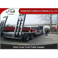 Wholesale 2 Axles Removable Gooseneck Low Bed Trailer , Heavy Machine Lowbed Trailer from china suppliers