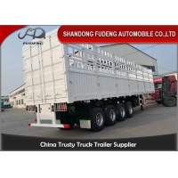 Wholesale Steel Mechanical Suspension 60T 4 Axle Fence Trailer from china suppliers