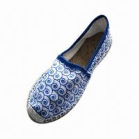 Wholesale Hot Women's Flat Espadrille with Fabric Upper, Lining, Rubber Outsole from china suppliers