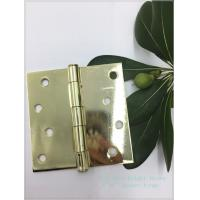 China 4 Polished Bright Heavy Duty Swinging Door Hinges Square Type on sale