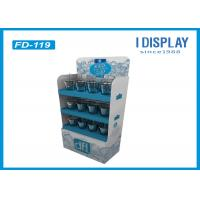 Buy cheap 3 Layers Cardboard Floor Displays , Corrugated Paper Floor Display Stand from Wholesalers