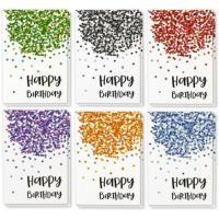 China Paper Holiday Greeting Cards , Confetti Design Birthday Greeting Cards on sale