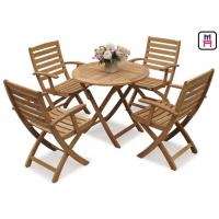 Wholesale Rectangle / Round / Square Folding Table And Chairs Solid Wood Garden Furniture Sets from china suppliers