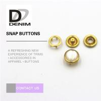 Wholesale Gold Color Small Bulk Clothing Buttons Pearl Snap Fasteners Nickel Free from china suppliers