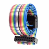 China UL2468 10AWG Rainbow Ribbon Cable 10 - 20 Pin For Computer Cabling Silicone Jacket on sale