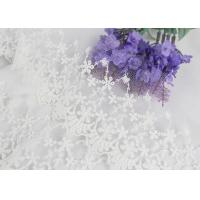 Wide Handmade Flower Embroidered Tulle Lace Trim For Winter Wedding Dressmaking