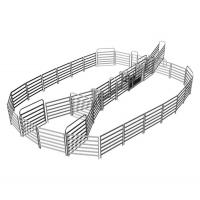 Wholesale 18 Horse Panel Cattle Yard HEAVY Duty Outdoor Animal Enclosure with Gate from china suppliers