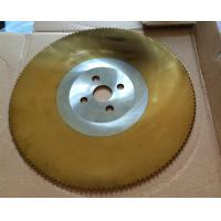 China TiN coating HSS circular knife, saw blade for cold cutting of tube and pipe on sale