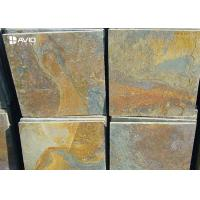 Wholesale Rusty Yellow Natural Slate Floor Tiles Non Slip Wear Resistant OEM / ODM Service from china suppliers