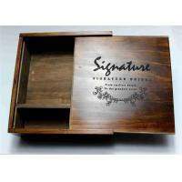 Wholesale Wedding Gift Slide Top Wooden Box , Pine Square Wooden Box With Lid from china suppliers