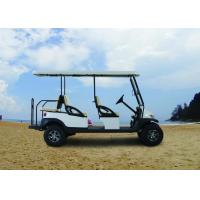 Quality Electric Transportation 6 Seater Golf Cart Orange Color For Sightseeing for sale