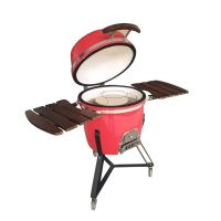 China new technology 2019 garden outdoor kitchen stone ceramic charcoal clay bbq grill kamado on sale
