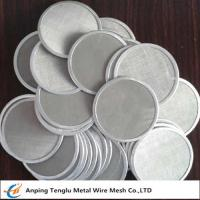 Wholesale Single Layer Filter Net Piece|SUS304 Wire Mesh Filter Disc 12x64mesh from china suppliers