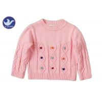 Wholesale Long Sleeves Girls Cable Knit JumperCrew Neck Pullover Style Anti - Pilling from china suppliers