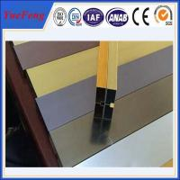 China hot selling! extruded aluminum channel / aluminum glass channel OEM on sale