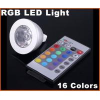 Wholesale DC12V 3W MR16 RGB 16 Colors Energy-saving remote controlled LED Light Bulb from china suppliers