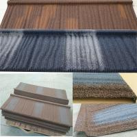 Wholesale Long Lifespan Stone Coated Steel Roofing Tile Excellent Fire Resistance from china suppliers