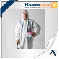 China 2020-nCov new Coronavirus 25G PP White Disposable Coveralls With Hood And Shoe Cover on sale