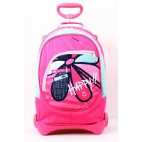 China Polyester 4C Print School Back Packs With Wheels Trolley Hand on sale
