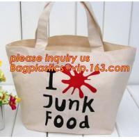 China Custom logo cheap creamy white canvas cotton recycle bag, Wholesale nature recycled shopping cotton bag bagease plastics on sale