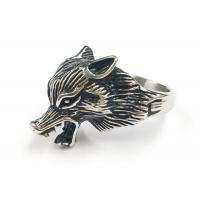 Wholesale 316L Stainless Steel Fashion Rings Punk Fox Animal Shape Unique Design from china suppliers