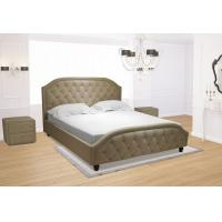 Wholesale Euro Platform Bed with Side Rails and Soft Upholstered Exterior, White Finish, King from china suppliers