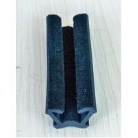 China Custome Rubber Extrusion Flocked Channel Rubber Seal for window on sale