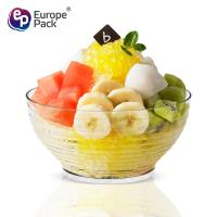 Wholesale Food grade high quality 90ml stripe design clear coconut bowl from china suppliers