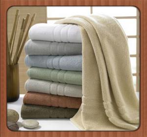 Wholesale custom beach towel 70% bamboo fiber 30% cotton hotel bath towel fabric
