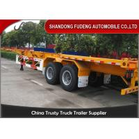 Wholesale Container chassis trailer , skeleton semi trailer 2 axles 20ft and 40ft with warranty and parts from china suppliers