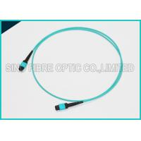 Buy cheap 12 Chnnels MPO Fiber Optic Cable OM3 Plenum Jacket QSFP 40G SR4 Optical Cabling from wholesalers