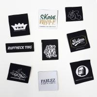 China 100% Polyester Fabric Woven Clothing Labels garment tags and labels on sale
