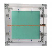 Light Aluminum Frame Access Panel With Green Plasterboard  Low Height Special Push Lock