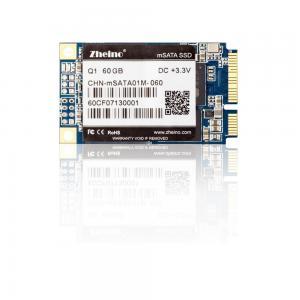 MLC Nand Flash mSATA SSD 60GB , FCC Hard Disk Drive For Laptop 1.25W Active