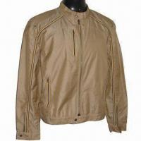 Buy cheap Men's Zipper Jacket, Made of 2-tone Nylon Cation Oxford Fabric, with Tapes Along from wholesalers