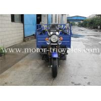 Strongger Frame Cargo Motor Tricycle , 3 Wheeled Motorcycle Car With Double Front Absorbers