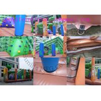 Exciting Jungle Inflatable Bouncy House Slide / Funtime Bouncy Castles With Slide