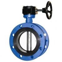 China 4 Inch Resilient Seated Butterfly Valves With Worm Gear / Double Flanged Butterfly Valve on sale