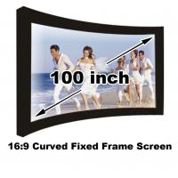 Wholesale Full HD 100 Inch Curved Fixed Frame Projection Screen 16:9 For Home Cinema Video Projector from china suppliers