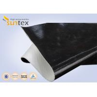 Wholesale One Side / Both Side Black Fireproof Fiberglass Cloth Silicone Coating For Fire Retardant from china suppliers