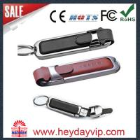 China leather usb flash drive on sale