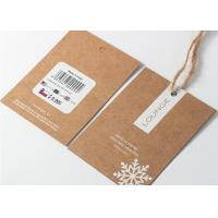 China Kaft Paper Garment Tags And Labels , Hanging Price Tag String With Hemp Rope on sale